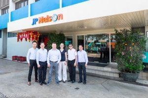 Junttan staff visiting JP Nelson in September 2016